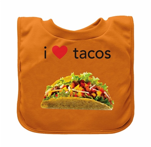Green Sprouts  Pull-Over Food Bib Orange Tacos-9/18mo Perspective: front