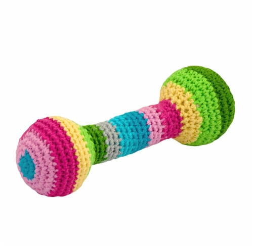 Green Sprouts  Chime Rattle made from Organic Cotton-Multicolor-3mo+ Perspective: front
