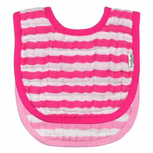 Green Sprouts - Bibs Muslin Pink 0-12mo - 1 Each - 2 CT Perspective: front