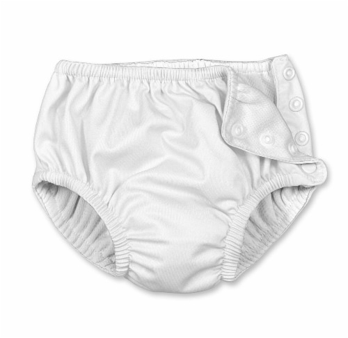 i play  Snap Reusable Absorbent Swimsuit Diaper 24 Months - White Perspective: front