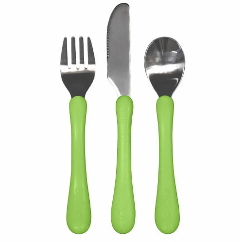 Green Sprouts Learning Cutlery Set Perspective: front