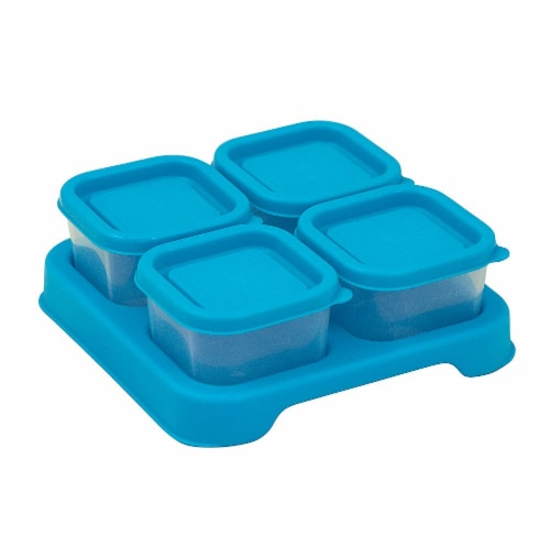 Green Sprouts  Fresh Baby Food Unbreakable Cubes Aqua Perspective: front