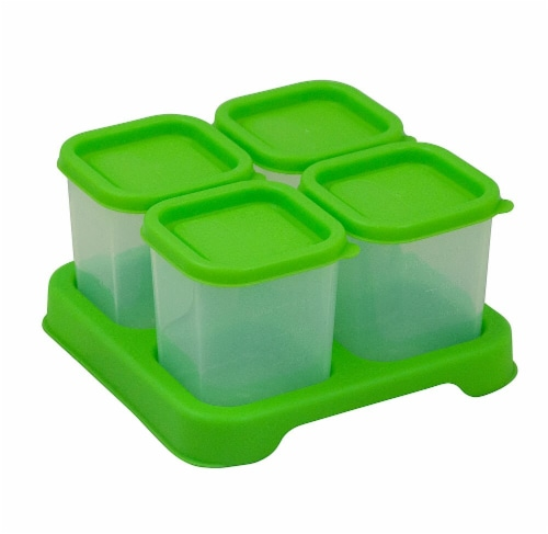 Green Sprouts Fresh Baby Food Unbreakable Cubes Green Perspective: front