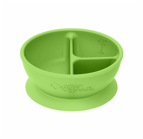 Green Sprouts  Baby Learning Bowl - Green Perspective: front