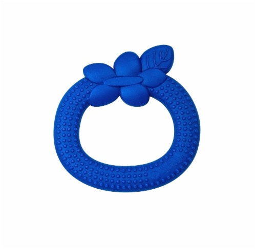 Green Sprouts  Silicone Teether Blueberry Blue Perspective: front