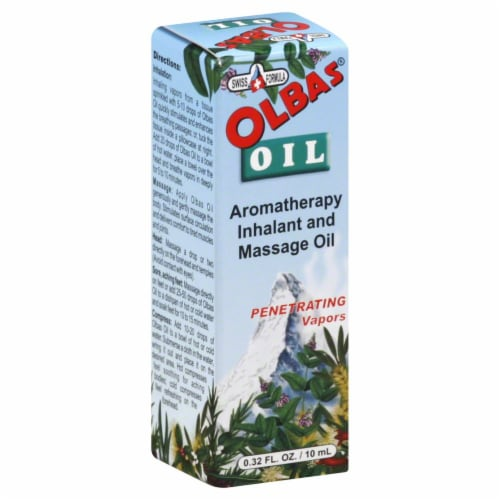 OLBAS Aromatherapy Inhalant and Massage OIl Perspective: front