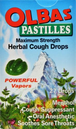 Olbas Pastilles Hebral Cough Drops Perspective: front