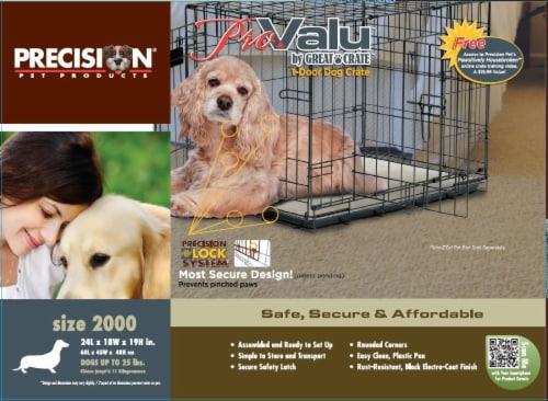 Precision Pro Valu 1-Door Dog Crate Perspective: front