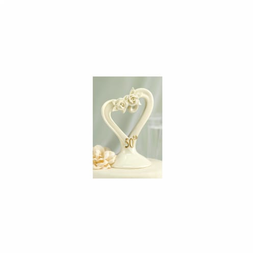 Hortense B. Hewitt 10986 50th Pearl Rose Cake Top Perspective: front