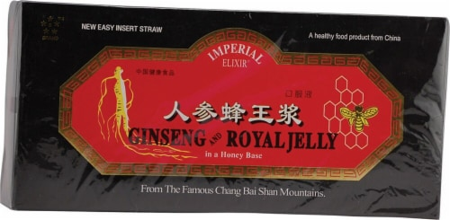 Imperial Elixir Ginseng and Royal Jelly 10mg Perspective: front