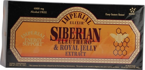 Imperial Elixir  Siberian Eleuthero and Royal Jelly Extract Perspective: front
