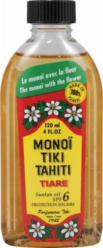 Monoi Tiare Tahiti Tiare Coconut Suntan Oil SPF6 Perspective: front
