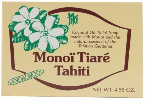 Monoi Tiare Tahiti Toilet Bar Soap Sandalwood Coconut Oil Perspective: front