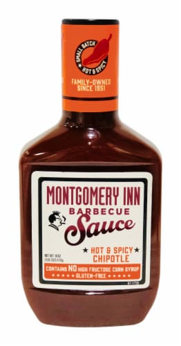 Montgomery Inn Hot & Spicy Chipotle Barbeque Sauce Perspective: front