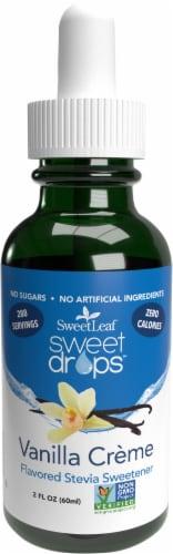 SweetLeaf Sweet Drops Vanilla Creme Flavor Stevia Liquid Sweetener Perspective: front
