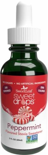 Sweet Leaf Liquid Stevia Sweet Drops Peppermint Flavored Liquid Drops Perspective: front
