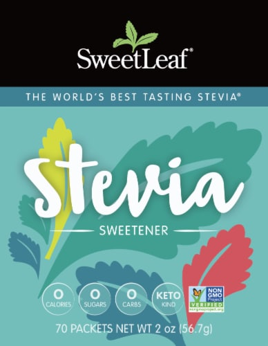 Sweetleaf Natural Stevia Sweetener Packets Perspective: front