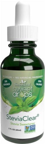 SweetLeaf Sweet Drops SteviaClear Liquid Sweetner Perspective: front