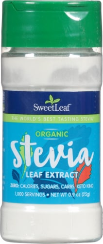 SweetLeaf Stevia Extract Dietary Supplement Perspective: front