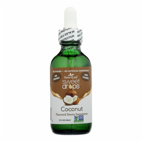 Sweet Leaf Sweet Drops Sweetener Coconut Perspective: front