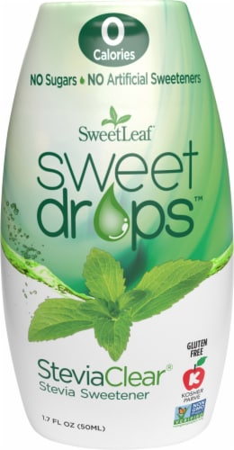 Wisdom Natural SweetLeaf Sweet Drops SteviaClear Sweetener Perspective: front