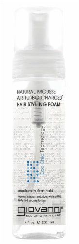 Giovanni Natural Mousse Air-Turbo Charged Hair Styling Foam Perspective: front