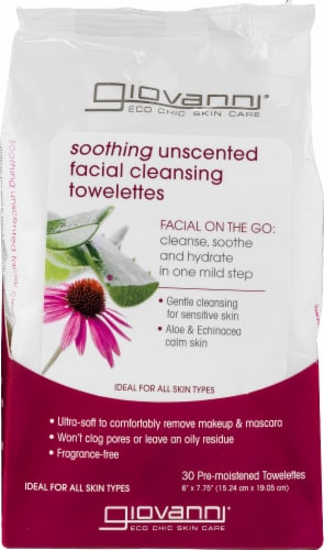 Giovanni Unscented Facial Cleansing Towelettes Perspective: front