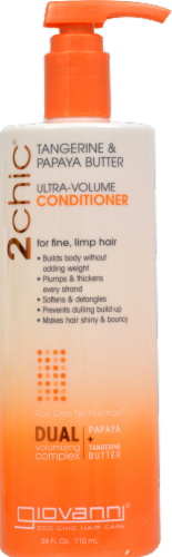 Giovanni 2chic Tangerine & Papaya Butter Ultra-Volume Conditioner Perspective: front