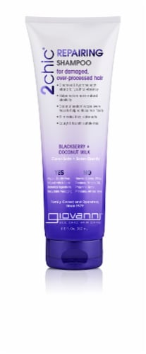 Giovanni 2chic Blackberry + Coconut Milk Repairing Shampoo Perspective: front
