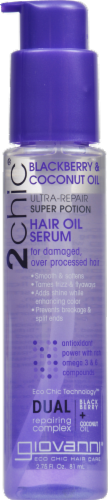 Giovanni 2chic Blackberry & Coconut Oil Hair Oil Serum Perspective: front