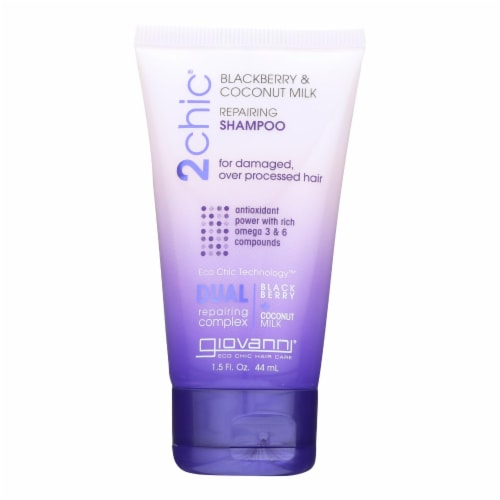 Giovanni Hair Care Products Shampoo - 2chic - Repairing - Blackberry and Coconut Milk -1.5 oz Perspective: front