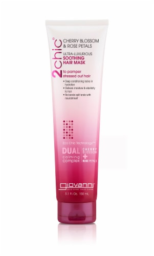 Giovanni 2chic Cherry Blossom & Rose Petals Ultra-Luxurious Soothing Hair Mask Perspective: front