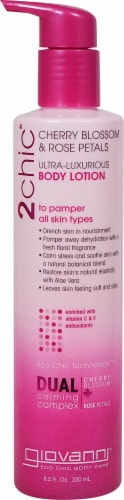 Giovanni Dual Calming Complex Cherry Blossom & Rose Petals Body Lotion Perspective: front