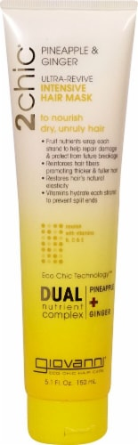 Giovanni 2chic Pineapple & Ginger Ultra-Revive Intensive Hair Mask Perspective: front