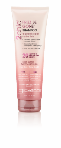 Giovanni 2chic Frizz Be Gone Shea Butter & Sweet Almond OIl Shampoo Perspective: front