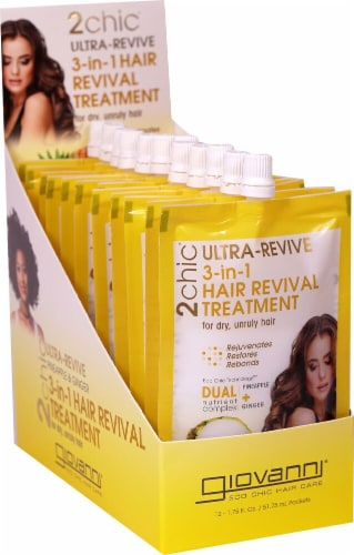 Giovanni 2chic Ultra-Revive Pineapple & Ginger 3-in-1 Hair Revival Treatment Perspective: front