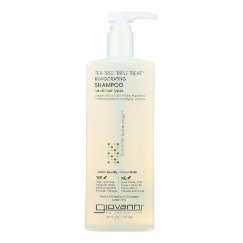 Giovanni Hair Care Products - Shampoo Tea Tree Invigorating - 24 FZ Perspective: front