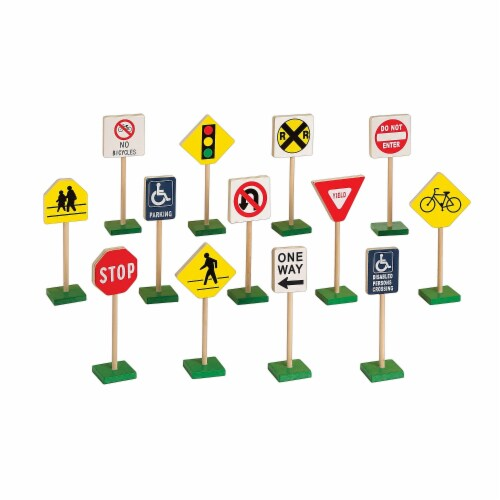 """7"""" Block Play Traffic Signs Perspective: front"""