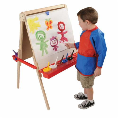Kaplan Early Learning Floor Style Adjustable Height Art Easel Perspective: front
