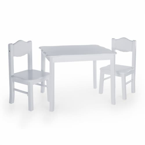 Classic Table and Chair Set - Gray Perspective: front