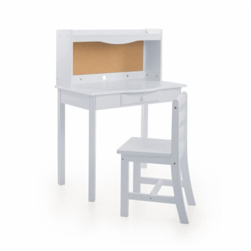Classic Desk - Gray Perspective: front