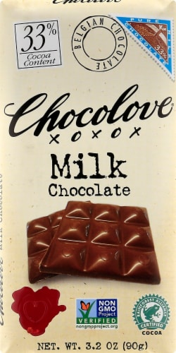 Chocolove Pure Milk Chocolate Bar Perspective: front