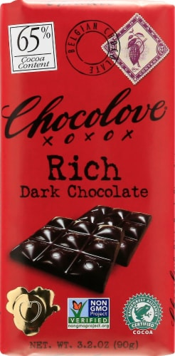 Chocolove Rich Dark Chocolate Bar Perspective: front
