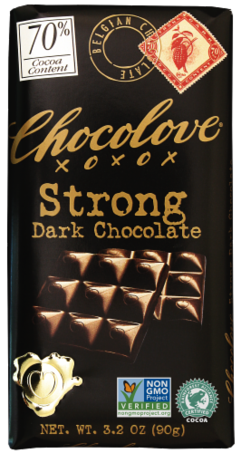 Chocolove Strong Dark Chocolate Bar Perspective: front