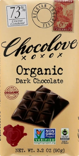 Chocolove Dark Chocolate Bar Perspective: front