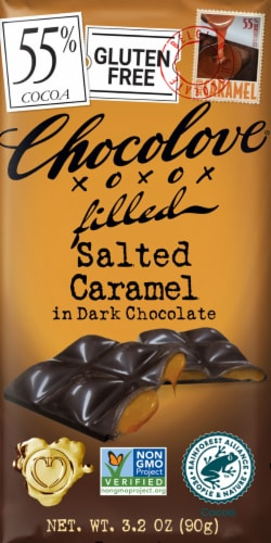 Chocolove Salted Caramel Dark Chocolate Bar Perspective: front