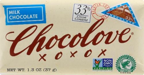 Chocolove Original Mini Milk Chocolate Bar Perspective: front