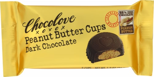 Chocolove Dark Chocolate Peanut Butter Cups 2 Count Perspective: front