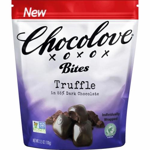 Chocolove Truffle Dark Chocolate Bites Perspective: front