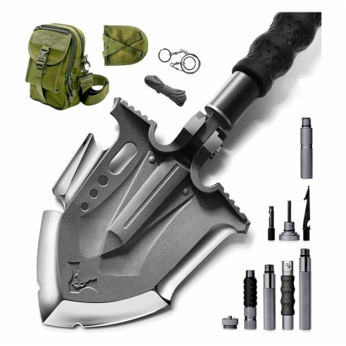 Zune Lotoo Multifunction Outdoor Camping 29.7 In Stainless Steel Survival Shovel Perspective: front
